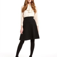 Soft System Dress With Georgette Bodice And Neck Tie - DKNY