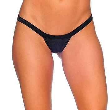 Pole Dancers Black T Back Thong
