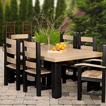 LuxCraft Recycled Plastic 4x6 Contemporary Table