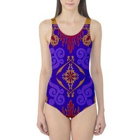 Aladdin Magic Carpet Inspired One Piece Swimsuit