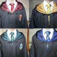 Robe Cape Cloak Gryffindor Slytherin Ravenclaw Hufflepuff Robe Cosplay Costumes Kids Adult for Harri Potter Cosplay