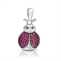 Bling Jewelry Pink Lady Pendant