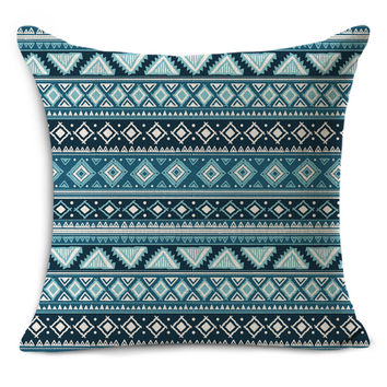 Nordic Vintage geometric outdoor chair decorative throw pillow decor cotton linen blended pillow MYJ-1612 45x45cm