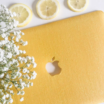 Glitter Macbook Case- YELLOW (special listing!)