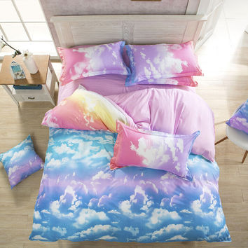 HOT SKY GRADIENT BEDDING SUIT FOUR PIECE SUIT