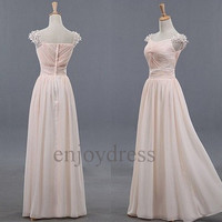 Custom Light Pink Beaded Long Prom Dresses Formal Evening Gowns Wedding Party Dresses Fashion Party Dress Bridesmaid Dresses Evening Dress