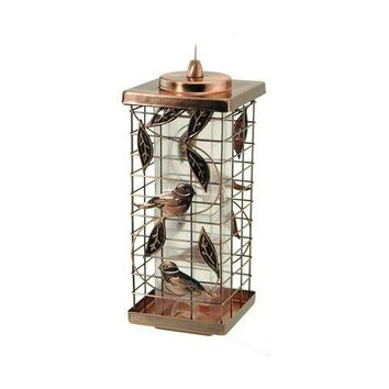 Audubon™ NA35329 Squirrel Resistant Caged Tube Bird Feeder, 2 Port, 1.75 Lbs
