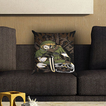 Game Of Thrones Zelda Link Design Pillow Cover , Custom Zippered Pillow Case One Side Two SIde