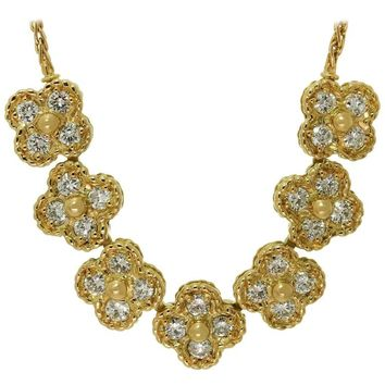Van Cleef & Arpels Arno Alhambra Diamond Yellow Gold Necklace
