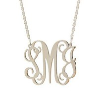 Monogrammed Filigree Necklace | Sterling Silver | Custom Jewlery