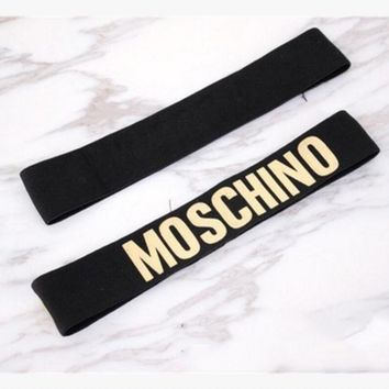 One-nice™ MOSCHINO Sport Yoga Gym Motion Headband Hair Hoop Gold