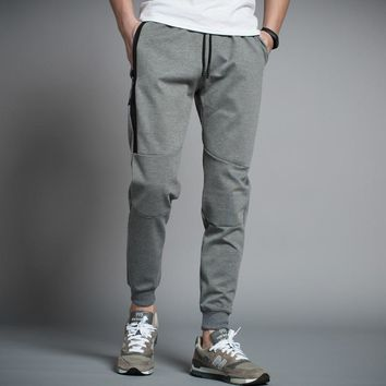 Spring Men New Gyms Baseball Pants Elastic Polyester Mens Fitness Workout Knitted Pants Skinny Sweatpants Trousers Jogger Pants