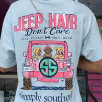"Simply Southern ""Jeep Hair"" Tee - Blue"