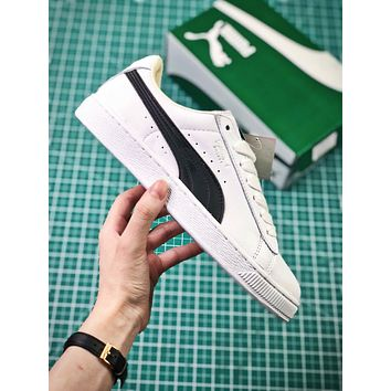 Puma Basket Classic White Black Sneakers