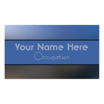 Professional Bright Blue and Gray Blurred Gradient Business Card