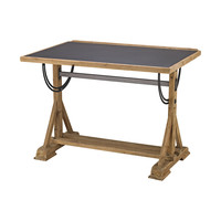 Collegio Desk Natural Woodtone,Black Iron