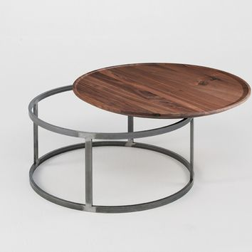 ROUND LOW WOODEN COFFEE TABLE NEST | ROUND COFFEE TABLE | RIVA 1920