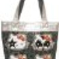 Hello Kitty KISS Rock Out Collaboration Black Tote Bag