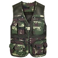 Men's Vest Camouflage Mesh Vest For Men Multi-pocket Cargo Vest Men Tank Top Clothing