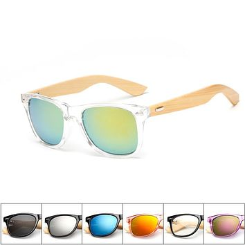 Wood Sunglasses  square bamboo