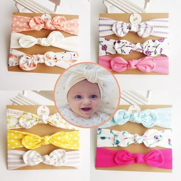 Korea High Quality Handmade Cotton Flower Crown Hair Accessories Kid Headband Hair Band Hair Bows Hair Ties For Girls Headbands