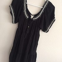 EUC Forever 21 Black Boho Summer Dress
