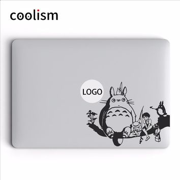 Totoro Family Anime Vinyl Decal Laptop Sticker for MacBook Air Pro Retina Mac 11 12 13 15 inch Mac Surface HP Mi Notebook Skin