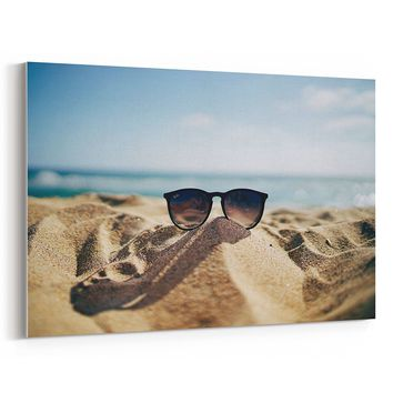 Westlake - Canvas Print Wall - Sea Sunglasses - Canvas Stretched Gallery Wrap - Modern Picture Photography Artwork - Ready to Hang - 18x12in (37x 105)
