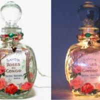 #8 French Roses Perfume Bottle Nightlight ( Night Light )