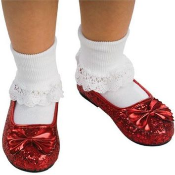 Wizard of Oz Child's Deluxe Dorothy Ruby Red Slippers
