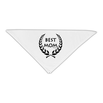 """Best Mom - Wreath Design Adult 19"""" Square Bandana by TooLoud"""