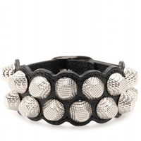 Giant Stud Leather Bracelet » Balenciaga * mytheresa