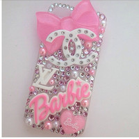 Barbie Pretty Pink Crystallised Sparkly Bling iPhone 5 Cell Phone Case
