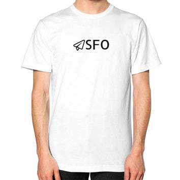 SFO Unisex T-Shirt (on man)