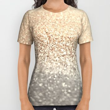 GOLD All Over Print Shirt by Monika Strigel
