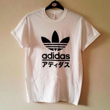 unisex customised adidas japan t shirt top festival swag urban
