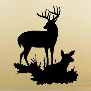 Buck and Doe Wall Decals Mural Home Decor Vinyl Cabin Decor Stickers