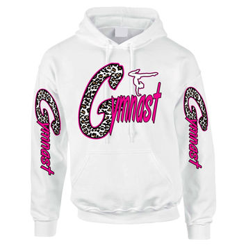 Gymnast White Leopard women's Hoodies