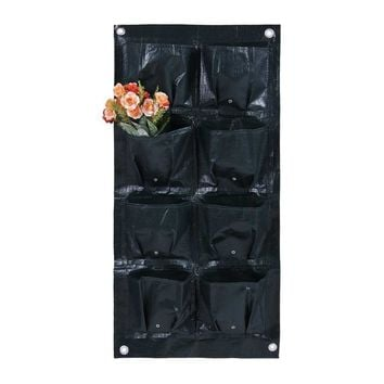 4/6/8/16 Pockets Protable Vertical Garden Planter Wall-mounted PE Home Gardening Flower Planting Bags Living Indoor Wall Planter