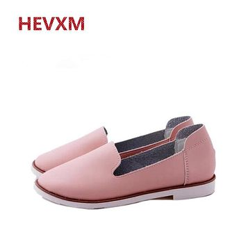 HEVXM 2017 EU 35-40 Spring New Street Korea Little White Shoes Fashion Wind Flat Shoes Flat Women's Shoes For Women Ladies Girls