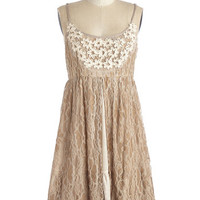 ModCloth Boho Mid-length Spaghetti Straps Empire Date Expectations Dress