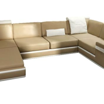 Daily Contemporary Leather Sectional by Scene Furniture | Opulentitems.com - Opulentitems.com