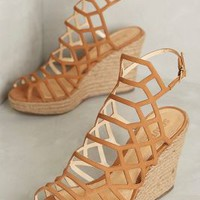 Schutz Marlyn Wedges in Neutral Size: