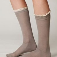 Chantilly Trim Sock at Free People Clothing Boutique