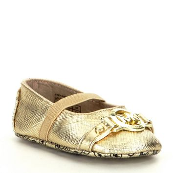 MICHAEL Michael Kors Girls' Baby Giby Metallic MK Ornament Crib Shoes | Dillards