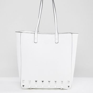 Dune Studded Tote Bag at asos.com