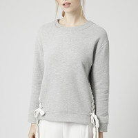 Lace Up Sweat - Topshop