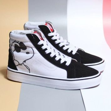 VANS x Peanuts Classic Fashion Women Men Casual High Help Shoe I