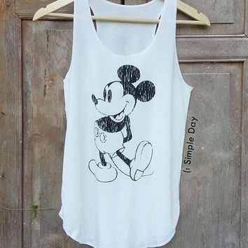 73339a42c336e Mickey Mouse Tank Top Hipster tank top Tank top women Fitness top Summer  Cloth Gift Summer