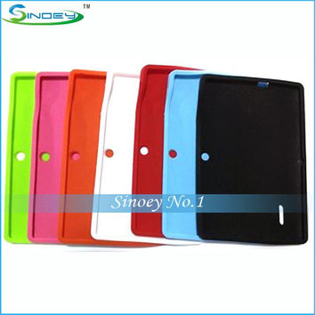 Colorful Q88 Silicone Rubber Back Case for 7 inch Allwinner A13 Q88 MID Android Tablet PC Free Shipping